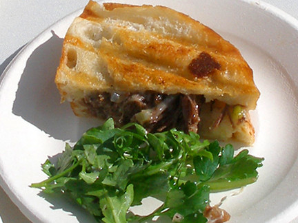 Grilled Cheese w/ Pulled Shortribs, MyLastBite.com