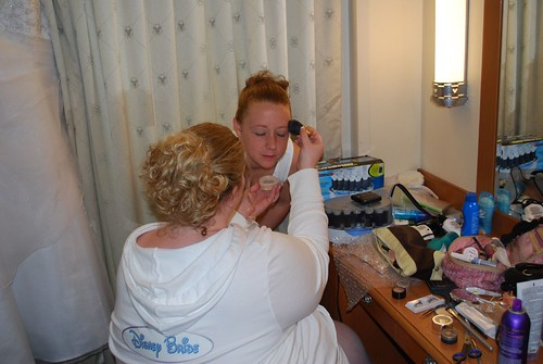 Helping Laura with her Make Up