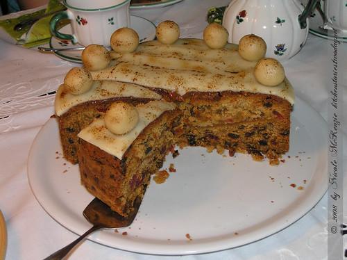Simnel Cake angeschnitten
