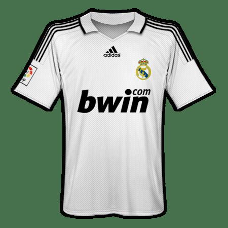ad3e60d5d831a Camisetas Real Madrid Temporada 2008 09
