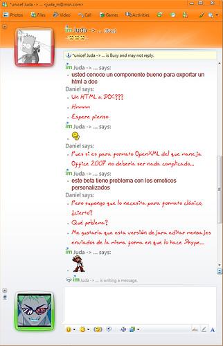 Windows Live Messenger Beta Version 2009 Conversación