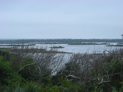 Mosquito Lagoon from a shell midden in Bethune Beach, FL