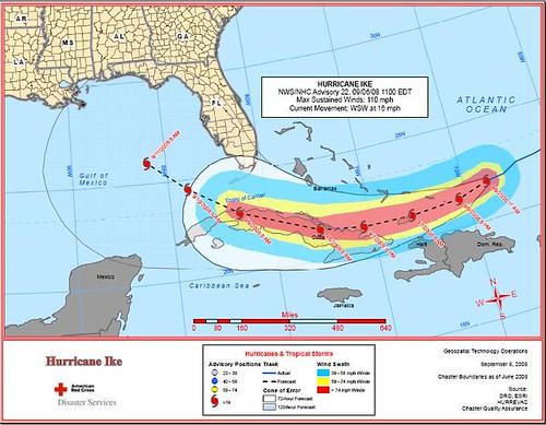 Hurricane Ike 11 a.m. 9.6.2008