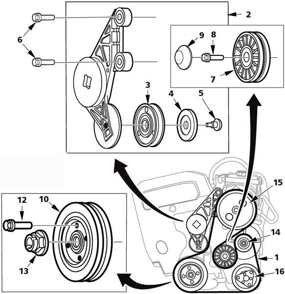 Mini Cooper S Belt Routing Diagram, Mini, Free Engine