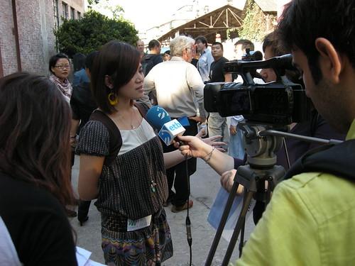 西班牙電視台採訪