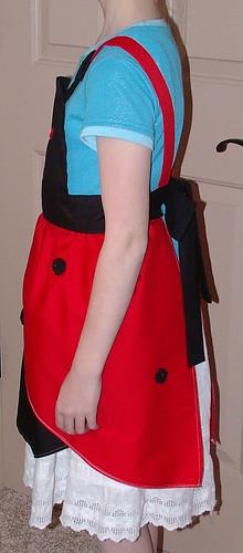 ladybug apron left side