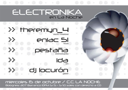 Afiche Electronica