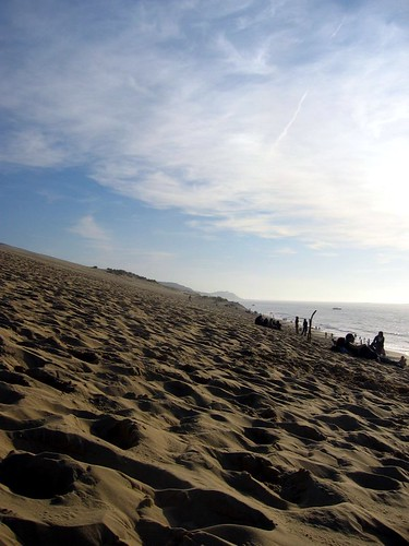 Dune du Pyla. Photograph taken while collapsed on side of sand dune.