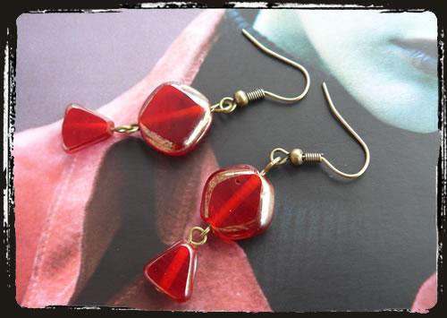 Orecchini rossi - Red earrings MEHILRO