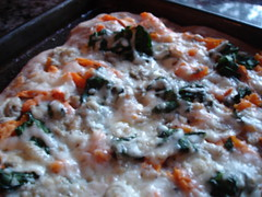 Sweet Potato and Spinach Pizza