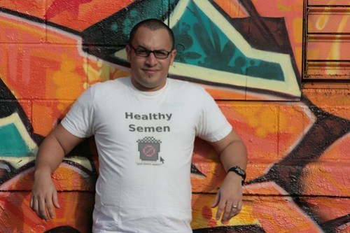 Geek T-Shirt - SpamTShirt.com - Healthy Semen (front)