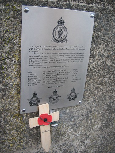 Memorial to Crashed Lancaster Bomber