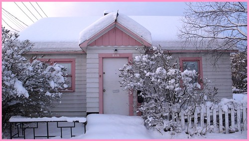Little pink house, downtown Anchorage.