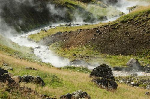 Steaming river, Hveragerdi