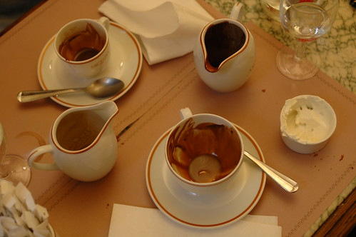 One of Peters favorite thing in Paris was this hot chocolate as thick as pudding, found at TODO.