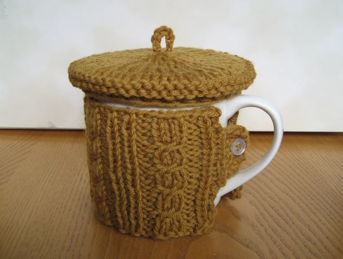 Jaunty Coffee Mug Sweater and Tam