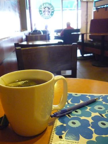 Starbucks tea in a MUG