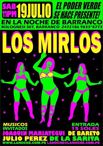 Afiche Los Mirlos2