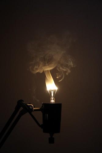 Burning Light Bulb 3