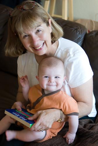 Grandma Susan and Ellie Reading