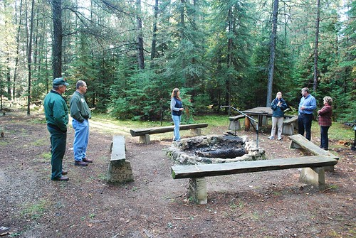 An outdoor classroom developed as a 1997 Eagle Scout project