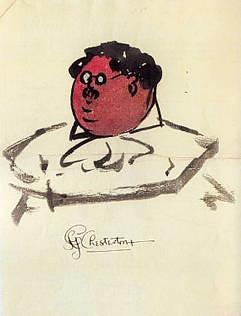 Gilbert Keith Chesterton, Autoritratto.