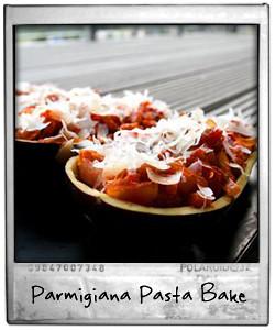 Aubergine Parmigiana Pasta Bake