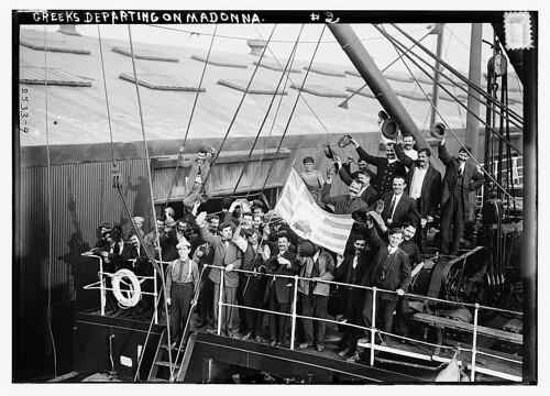Greeks departing on MADONNA (LOC)