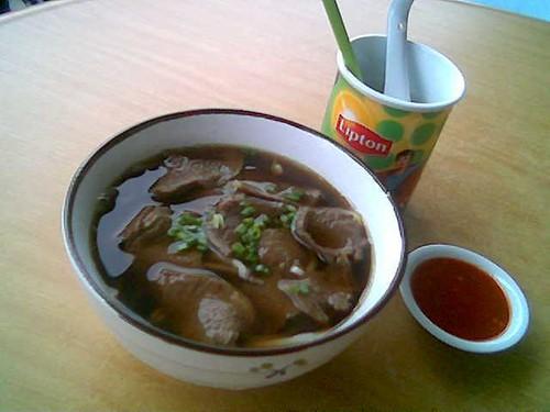 Sibu's e-cafe beef noodles
