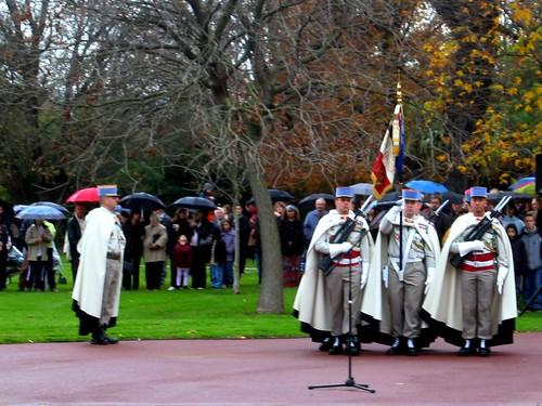 Armistice Day ceremony in Valence on November 11.