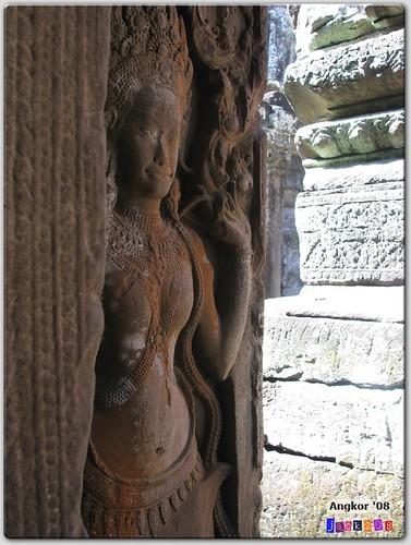 Apsara dancer in the Bayon