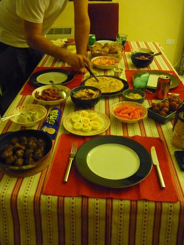 Traditional Swedish Christmas meal