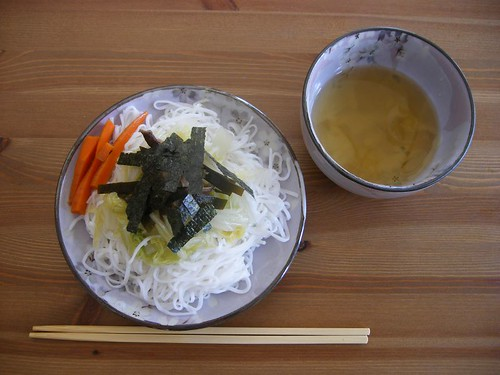 Chilled Japanese Noodles in Dipping Sauce