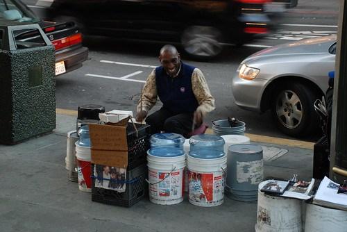 Drummer on the street, San Francisco