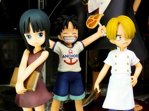 Robin, Luffy, Sanji as kids (from One Piece)