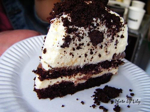 起司巧克力蛋糕片狀