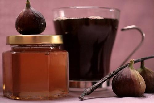 figs, honey, vanilla bean, coffee