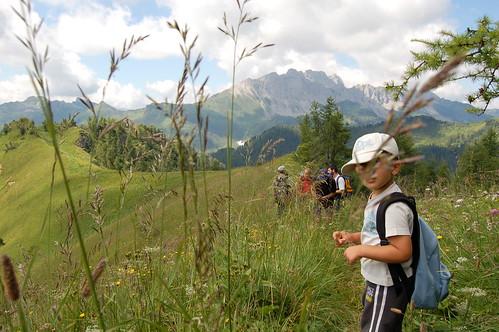 in escursione a 2000 metri