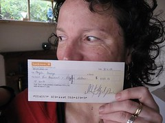 Royalty cheque