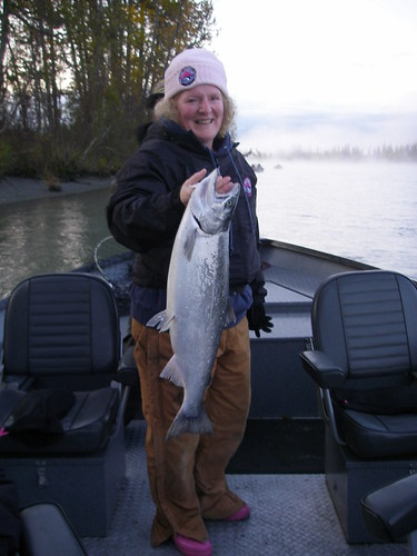 Dana and silver salmon