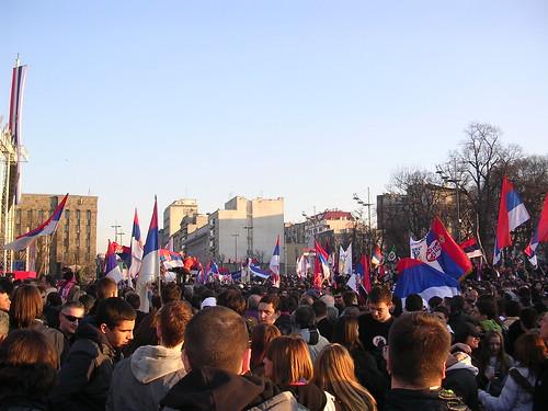 Manifestazione a Belgrado