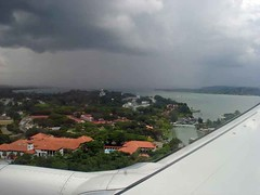 Singapore, seen from a plane about to land at Changi airport