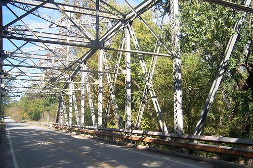 Steel truss bridge, Mill Creek