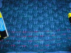 woodland shawl blocking