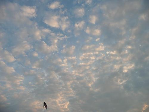 Sky with flag