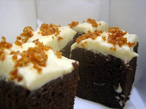 Chocolate Honey Cake with Honey Cream Cheese Frosting