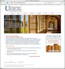 Screenshot of UExcel.com