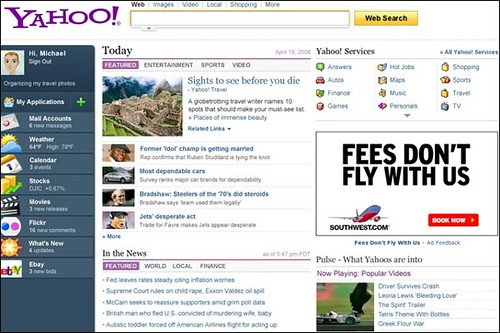 New Yahoo Frontpage by you.
