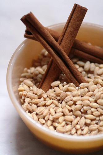 Barley and cinnamon