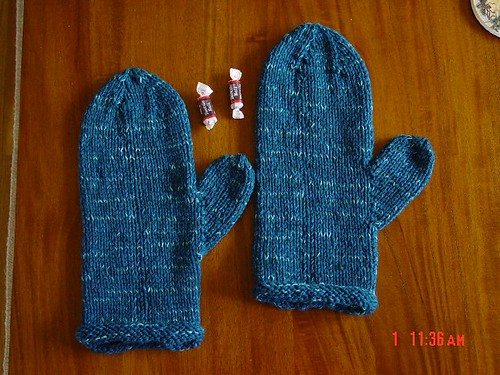 Mittens pre-felted